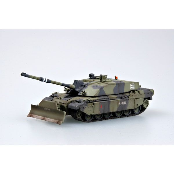 6228d506fc39 Easy Model 35011 1 72 British Army Challenger II Tank with Dozer blade